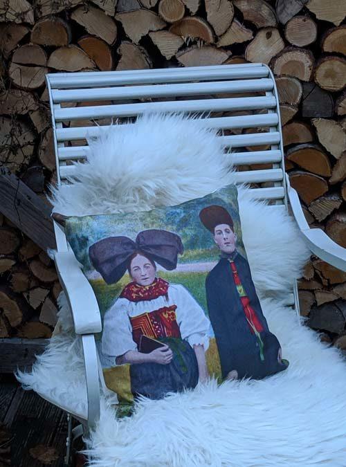 Kissen Motiv Hanauer Paar - Kollektion Tradition