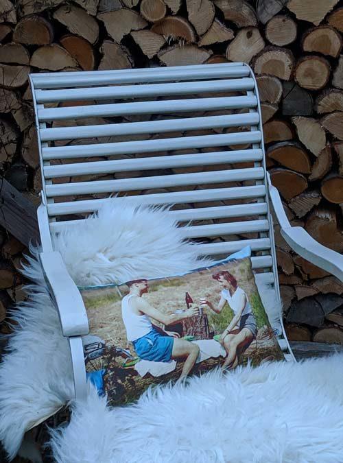 Kissen Motiv Picknick klein - Kollektion Retro
