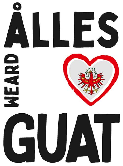 Fahne Dialekt Ålles weard guat Motiv 80 Tirol