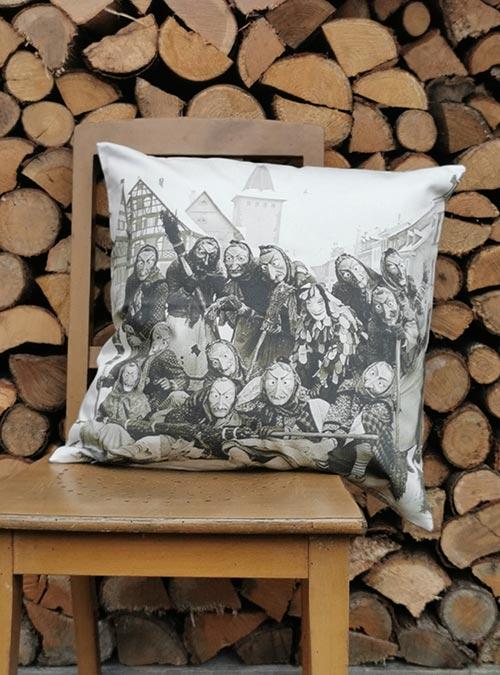 Kissen Gengenbach Hexen und Spaettle vor dem Obertor